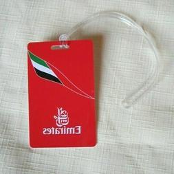 1 X EMIRATES LUGGAGE TAGS CREDIT CARD SIZE HARD PLASTIC TRAV