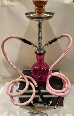 INHALE 17 INCH 2 HOSE JUNIOR HOOKAH IN A HARD SUITCASE
