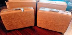 2 Vintage 1970s AMERICAN TOURISTER ESCORT Suitcase Hard Shel