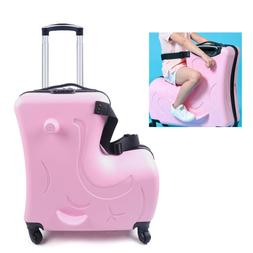 "20"" Hard Shell 360 Degree Wheels Trolley Travel Suitcase Cab"