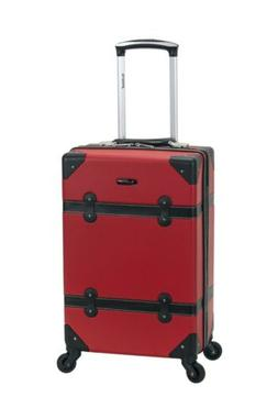 """20"""" Rockland Hard Side Carry On Rolling Suitcase Bag RED D"""