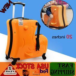20 Inch Children Ride On Suitcase Trolley Luggage Waterproof