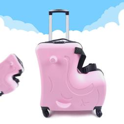 "20"" Kids Ride On Luggage Boys Girls Travel Suitcase Draw-b"