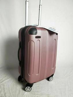 $240 Rockland London Pink Spinner Luggage Carry On Suitcase