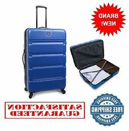 28-Inch Checked Colossus Durable ABS Hard Side Luggage Trave