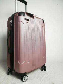 $280 Rockland London Pink Spinner Luggage Medium Suitcase 24