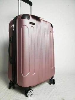 $280 Rockland London Pink Spinner Luggage Medium Suitcase 24
