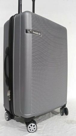 "$280 New Rockland Skyline 24"" Hard case Luggage Suitcase Sil"