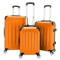 3 Pcs Luggage Set ABS Bag Trolley Spinner Suitcase Hard Shel