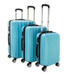 3 PCS Luggage Travel Set Bag ABS Trolley Hard Shell Suitcase