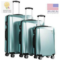 3 pcs luggage travel set bag abs