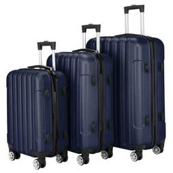 3 Piece Travel Luggage Set Lightweight Case Spinner Hardshel
