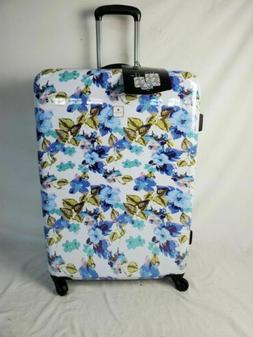 "$340 TAG Pop Art 28"" Hard Case Luggage Suitcase White Blue F"