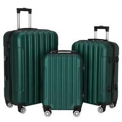 "3PCS 20"" 24"" 28"" Luggage Travel Set Bag ABS Trolley Hard She"
