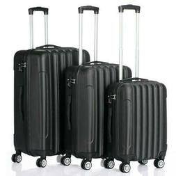"3PCS 20""24""28"" Luggage Travel Set Bag Trolley Hard Shell Sui"