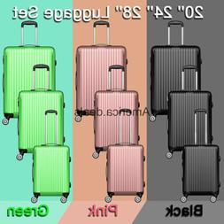 ABS Luggage Set Hard Rolling Suitcase Lightweight Durable 20