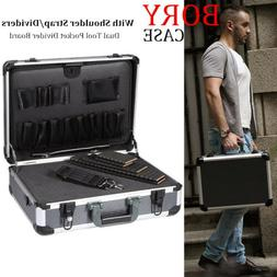 Aluminum Equiment Tool Case with Foam Insert Organizer Toolb