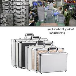 Aluminum Hard Case Mens Briefcase Carrying Case Suitcase Hom