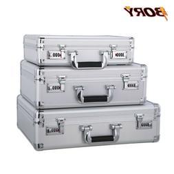 Aluminum Hard Case Mens Briefcase Password Dual Lock with Ne