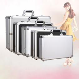Aluminum Hard Case Mens Briefcase Suitcase Home Business Too