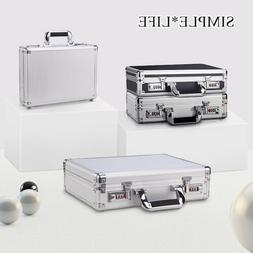 Aluminum Hard Case Metal Frame ABS Panel Mens Women Briefcas