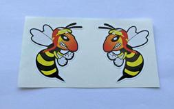 angry wasps stickers for bumper travel laptop