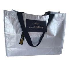 Authentic Hard Rock Tote Bag Silver Canvas Light Crocodile P