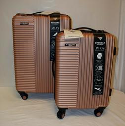 Travelers Club Basette Rose Gold 2 piece Luggage Set Hard Si