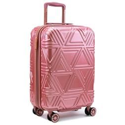 contour spinner carry on suitcase black rose