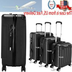 hard shell cabin suitcase 4 wheel luggage