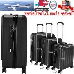 Hard Shell Cabin Suitcase 4 Wheel Luggage Trolley Case Light