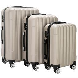 "Hot 3PCS 20/24/28"" Luggage Travel Bag ABS Trolley Hard Shell"