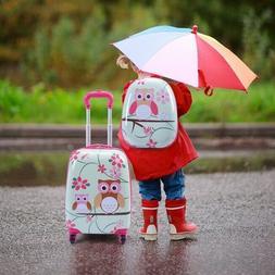 Kids Luggage Set Girls Suitcase Backpack Travel Case Rolling