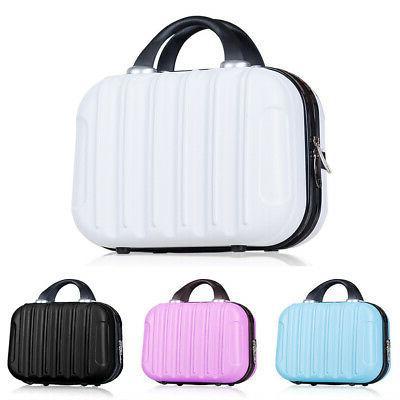 14 Inch Simple Anti Pressure Hard Suitcase Cosmetic Bag Vert