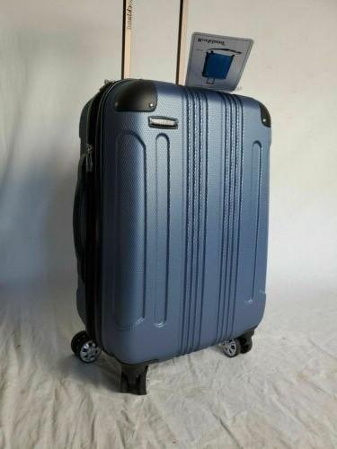 New Blue Spinner Luggage On Suitcase Hardcase