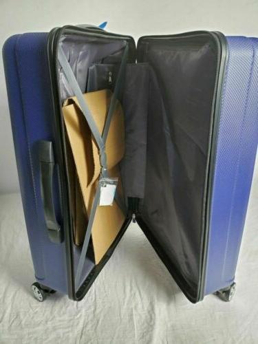 New Hard Luggage Blue Spinner Wheels