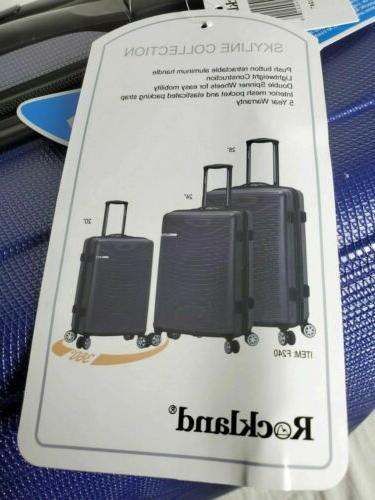 """New 24"""" Hard case Luggage Blue"""