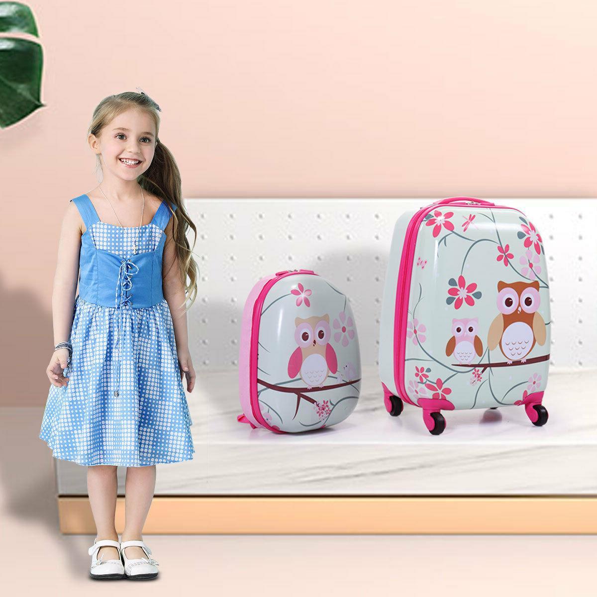 2pc kids carry on luggage set upright