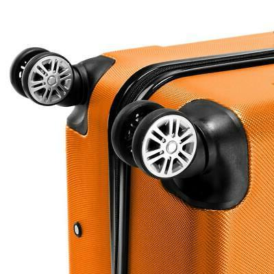 3 Luggage ABS Trolley Spinner Suitcase Hard
