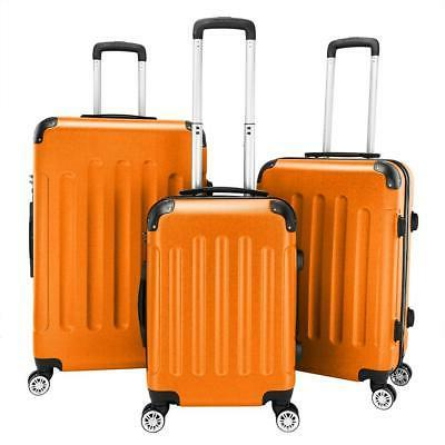 3 pcs luggage set abs bag trolley