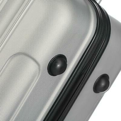Set Bag Hard Shell Suitcase w/TSA lock Grey