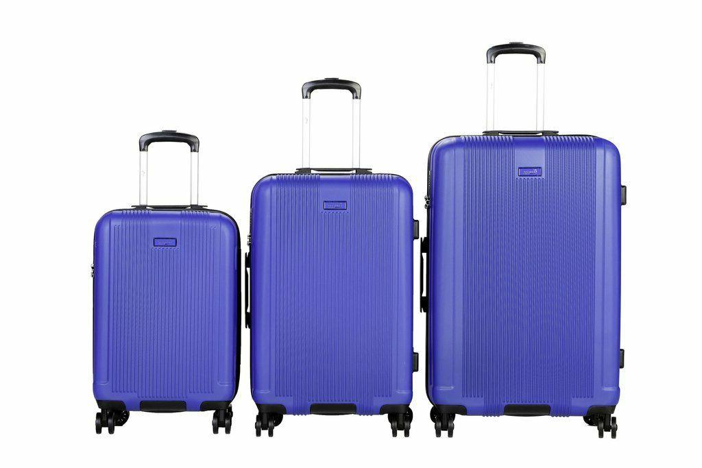 3 piece luggage set hard shell spinner