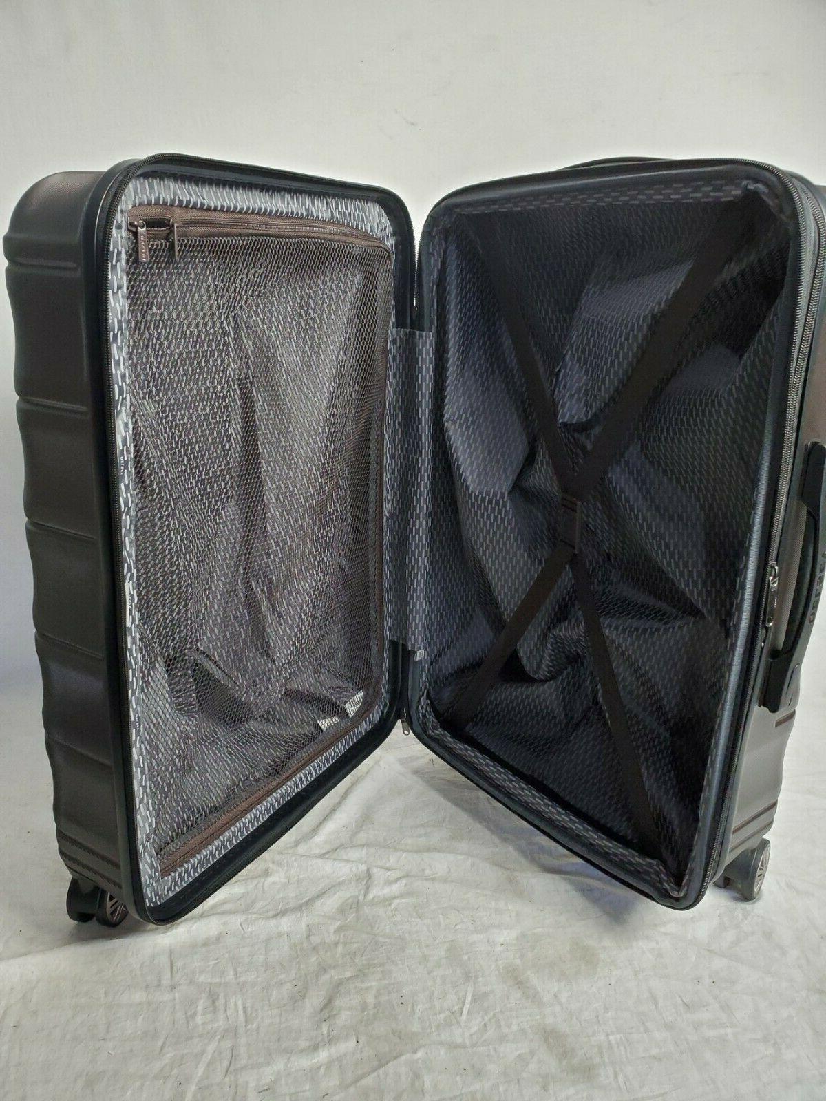 "$300 Meteor 24"" Suitcase Luggage Brown"