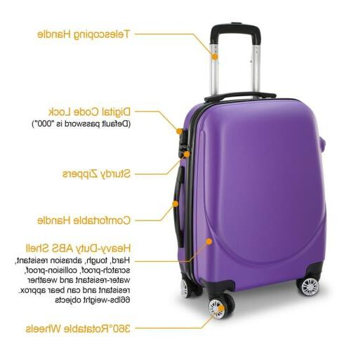 360°Rotatable 20 Inch Hardside Spinner Luggage Shell