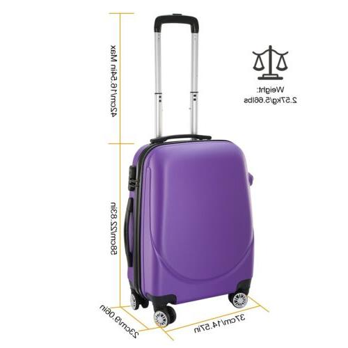360°Rotatable 20 Inch Hardside Spinner Shell Travel
