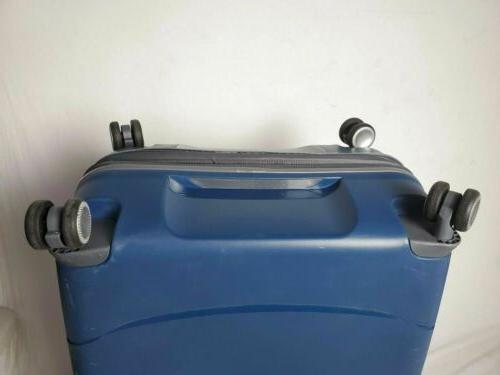 "$380 Mendocino 28"" Spinner Suitcase Blue w/ TSA"