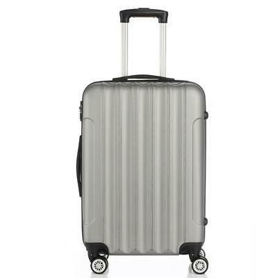 3 Luggage Set Bag ABS Trolley Hard lock