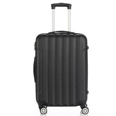 3PCS Luggage Set Bag Shell Suitcase w/TSA US Black