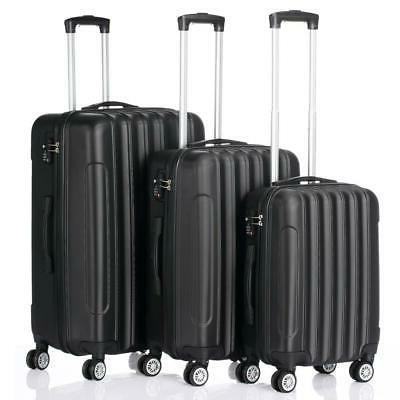 3pcs luggage travel set bag abs trolley