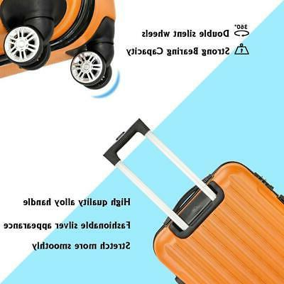 3PCS Luggage Travel Bag Hard Shell Suitcase